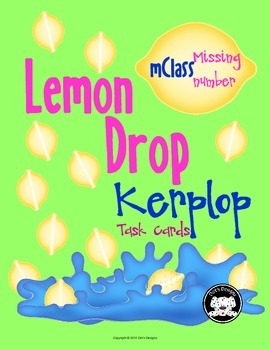 mClass Missing Number Lemon Drop Kerplop Task Cards