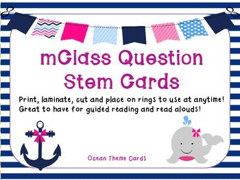 mClass Question Stem Cards-Ocean Theme