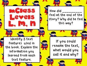 mClass Question Stem Cards-Super Heroes!