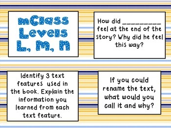 mClass Question Stem Cards-blue and gold