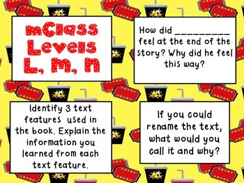 mClass Question Stem Cards-movie theme