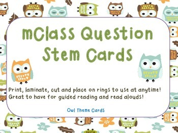 mClass Question Stem Cards-owl theme