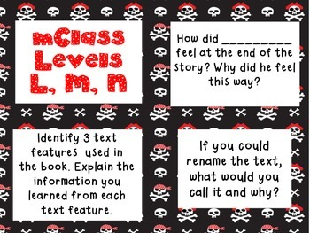 mClass Question Stem Cards-pirate theme