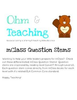 mClass Question Stems
