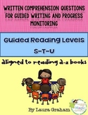 Written Comprehension Questions levels S-T-U