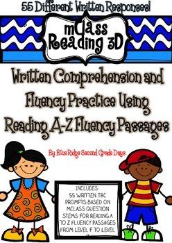 mClass Reading 3D TRC Written Comprehension Using Reading A-Z Fluency Level F-M