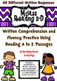 mClass Reading 3D TRC Written ComprehensionUsing Reading A-Z Fluency  Level N- U