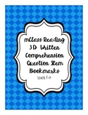 mClass Reading 3D Written Comprehension Question Stem Bookmarks