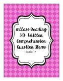 mClass Reading 3D Written Comprehension Question Stems