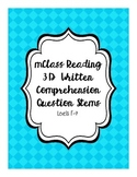 mClass Reading 3D Written Comprehension Question Stems with Scoring Rubric