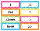 mClass Sight Word Cards--Bright Polka Dot