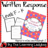 mClass Written Response RAZ Books Lvls F - K