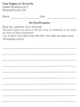 mClass TRC Written Responses for ReadingA-Z Benchmark Books Lvls R to U