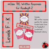 mClass TRC Written Responses for ReadingA-Z Lvls F to K Co
