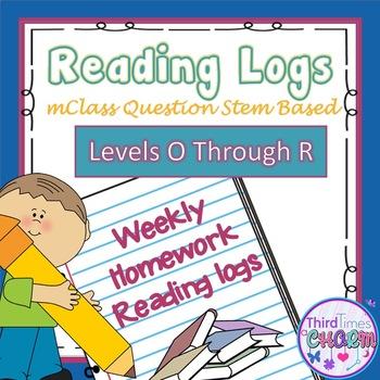 mClass Written Response Levels O-R