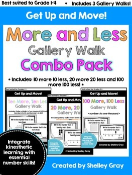 Get Up and Move! {A More and Less Gallery Walk COMBO PACK}