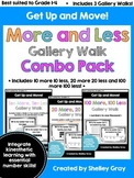 Get Up and Move! {A More and Less Gallery Walk COMBO PACK} BUNDLE