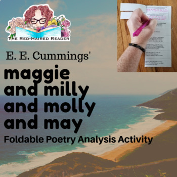 maggie and milly and molly and may Cummings  foldable poetry analysis activity