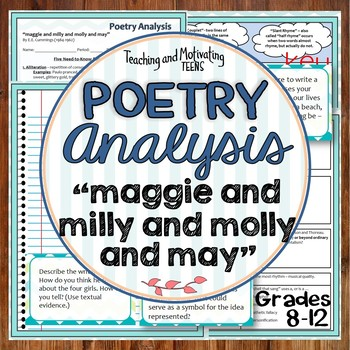 """""""maggie and milly and molly and may"""" by E.E. Cummings Literary Devices Lesson"""