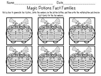 Magic Potions Fact Families