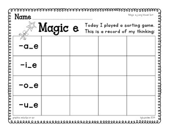 magic e_long vowel sorting station