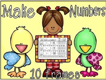 make 10 with a ten frame