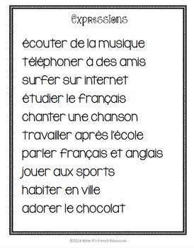 French -er verbs activity / les verbes en -er