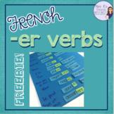 French -er verbs activity LES VERBES DU PREMIER GROUPE