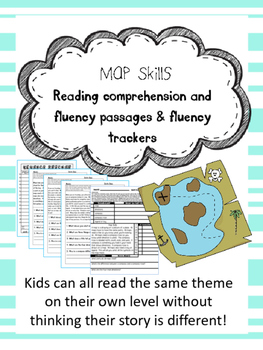 map skills fluency and comprehension leveled passages