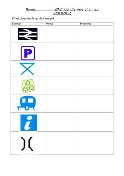 map symbols cut and stick