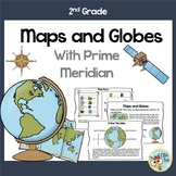 2nd and 3rd grade Map Skills includes Globe and Prime Meridian