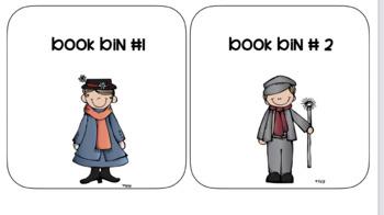 mary poppins book bins- white