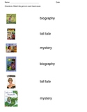 match book cover to correct genre: biography, tall tale, m
