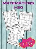 matemáticas números del 1 al 20