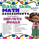 Special Education: Basic Skills-  Math Assessments and Data Collection