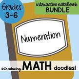 Doodle Notes - Math Doodles Interactive Notebook Bundle 1 - Numeration