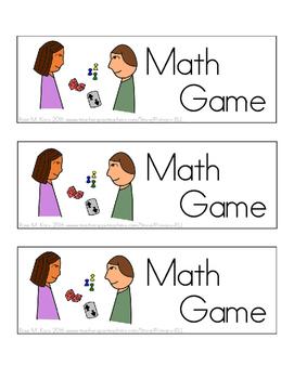 math centers cards