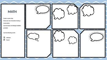 math dialogue and vocabulary template