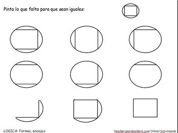 Spanish math for logic, counting, locations