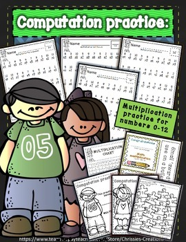 math assessments and drills for 0-12 multiplication  {Printables}