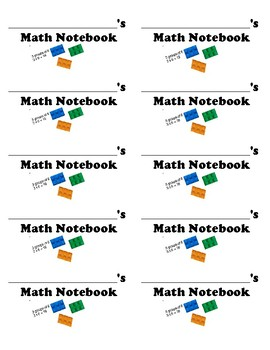 math notebook labels lego