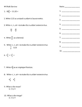 math review for tests