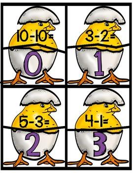 math subtraction 0-10