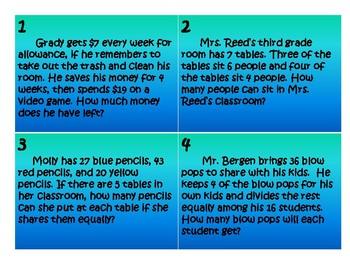 math task card samples