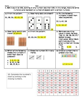 Math Quiz - Week 1 - 1.NBT.1