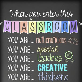 mathematician CHALK - Classroom Decor: SMALL BANNER, When You  Enter