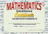 mathematics excellence certificate
