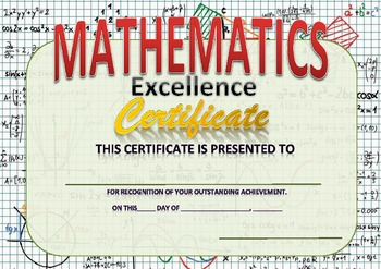 mathematics excellence certificate