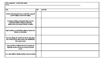 maths assessment 40-60 months number