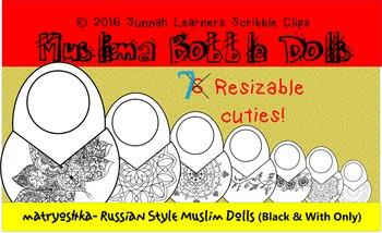 matryoshka- Russian Style Muslim Dolls